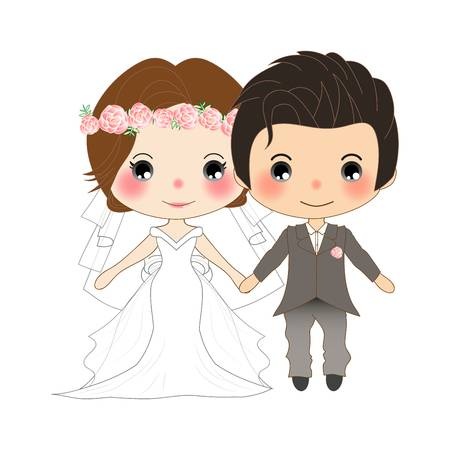 9,257 Wedding Couple Vector Stock Vector Illustration And Royalty.