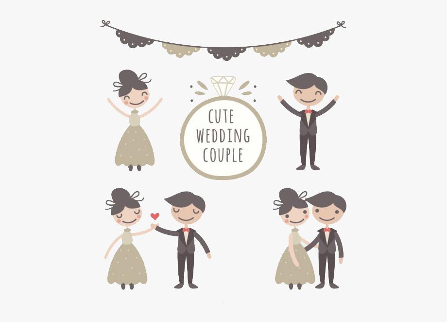 Wedding Couple Marriage Drawing Bridegroom.