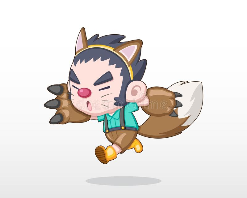 Cute Werewolf Stock Illustrations.
