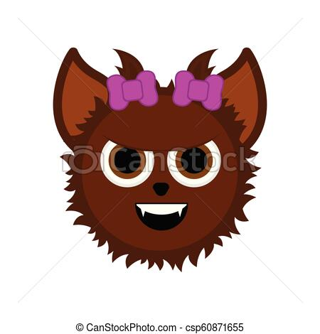 Cute halloween werewolf cartoon character.