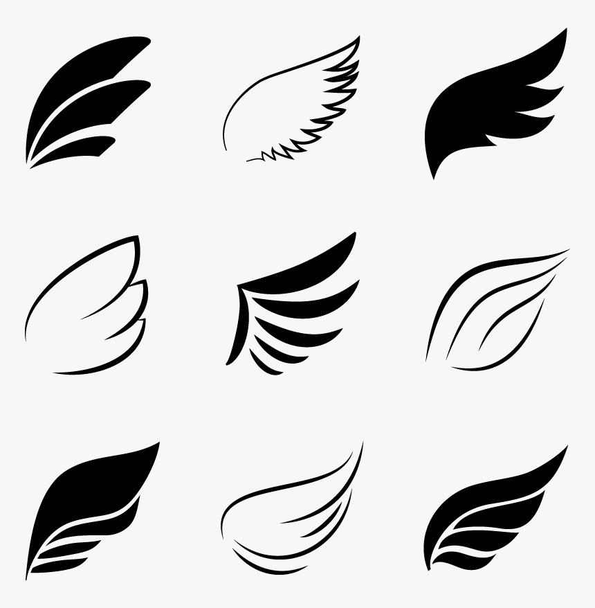 Elements Flight Angel Bird Black Logo Wing Clipart.