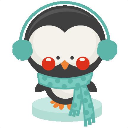 Penguin Winter SVG scrapbook cut file cute clipart files for.