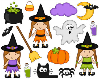 Halloween Monster Grins Digital Clip Art Cute Monster Smiles.