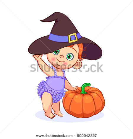 Baby Witch Stock Images, Royalty.