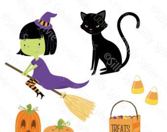 Cute witch clip art.