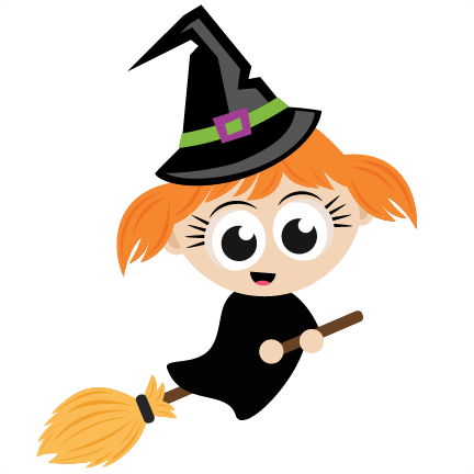 Halloween Witch SVG scrapbook cut file cute clipart files for.