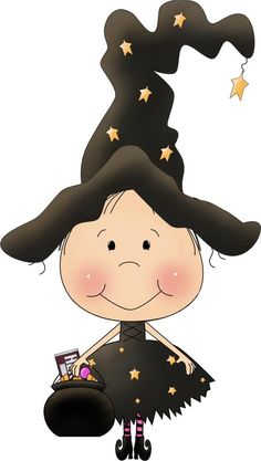 Cute witch clip art.