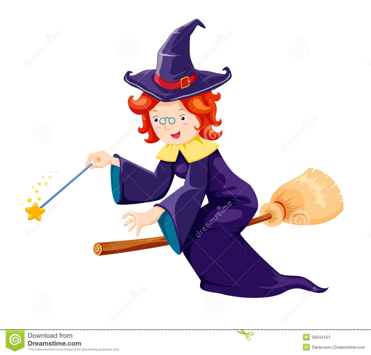 Cute Witch Stock Image.