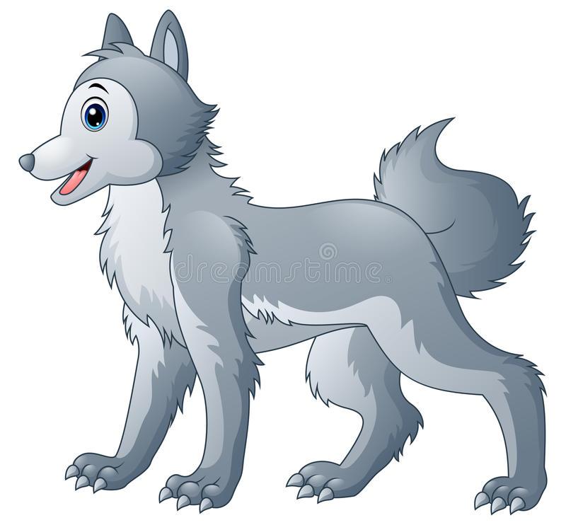 Cute Wolf Stock Illustrations.