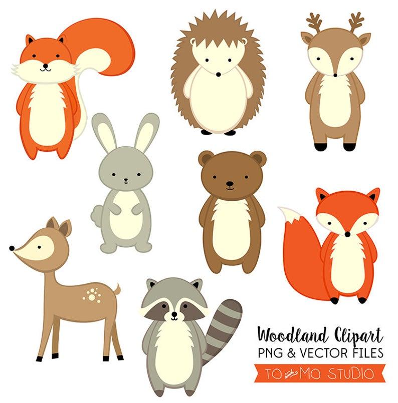 Woodland Animals Clip Art & Vectors.