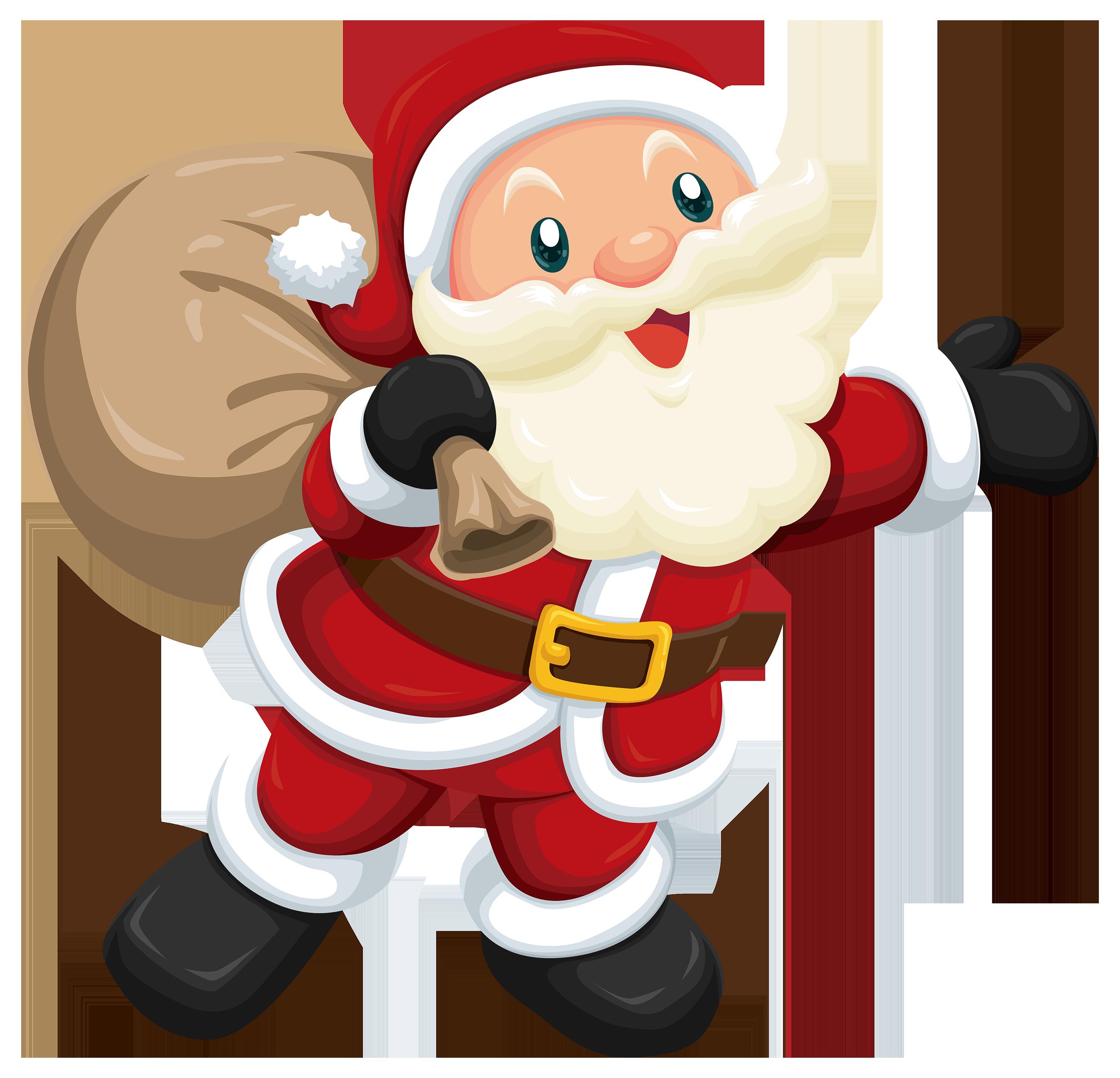 Cute Santa PNG Clipart.