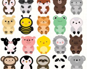 Zoo animal clip art.