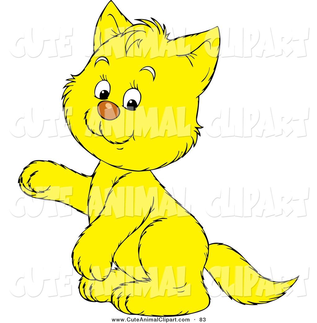 Yellow Animals Clipart.