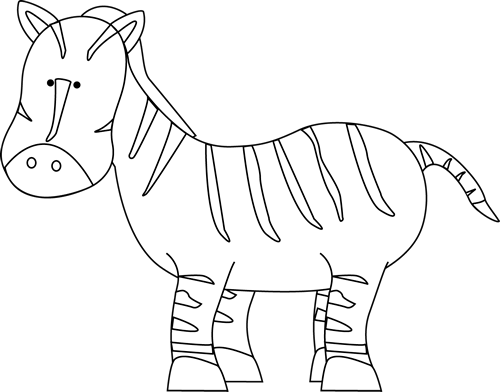 Free Zebra Clipart Black And White, Download Free Clip Art.