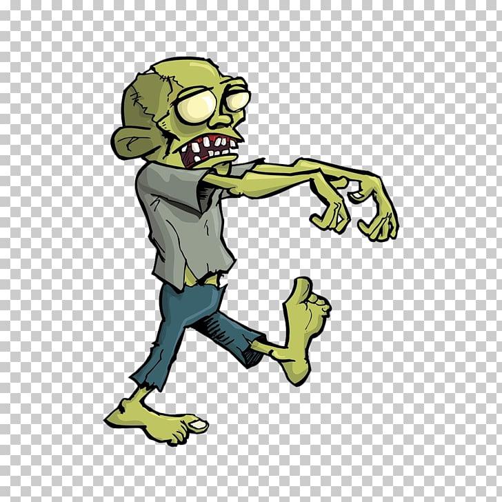 Zombie Cartoon Halloween , Cute zombie PNG clipart.