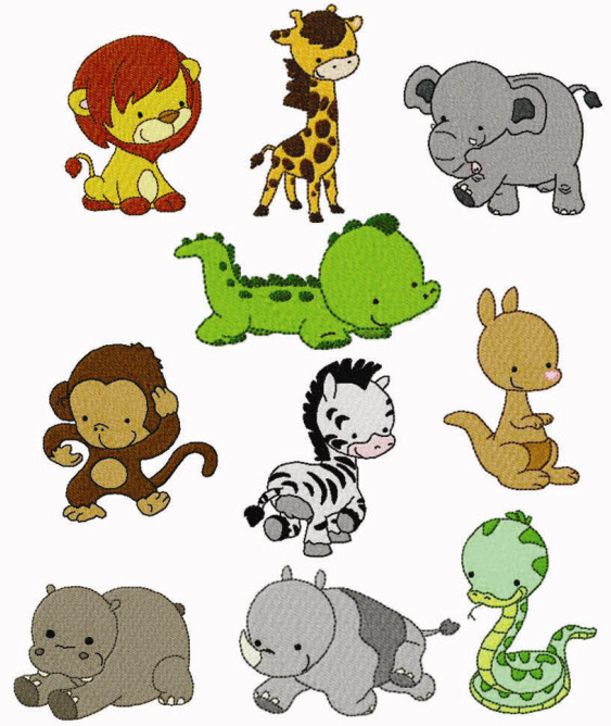 Cute Zoo Animal Clipart.