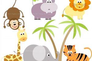 Vectormenez Clipart: Cute Zoo Animals Clipart.