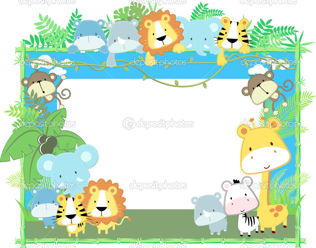 Cute Zoo Animal Clipart.