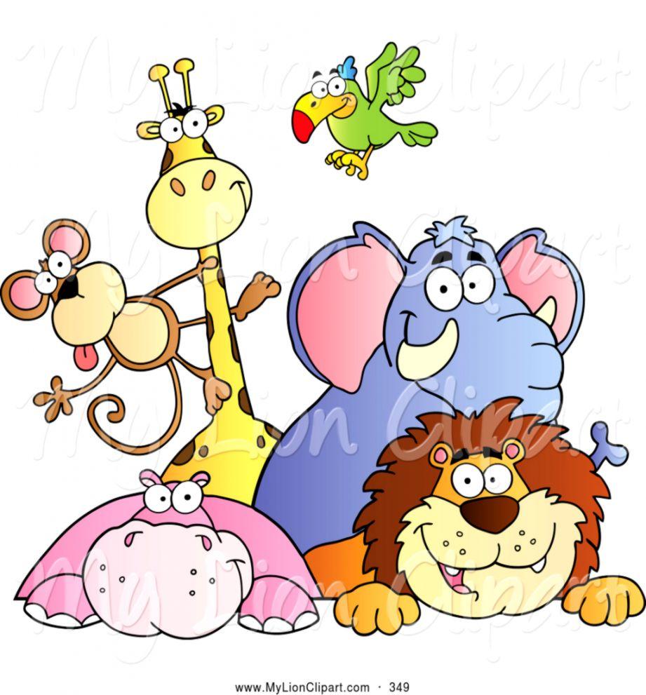 Cute Zoo Animals Clipart.
