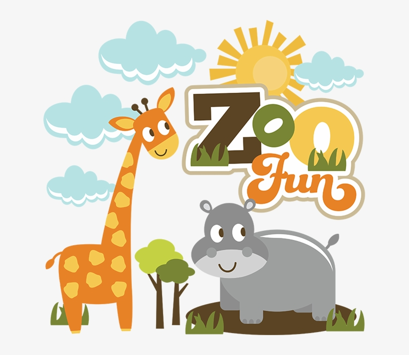 Cute Zoo Clipart PNG Image.
