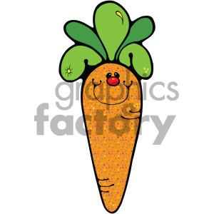 cute cartoon carrot clipart. Royalty.