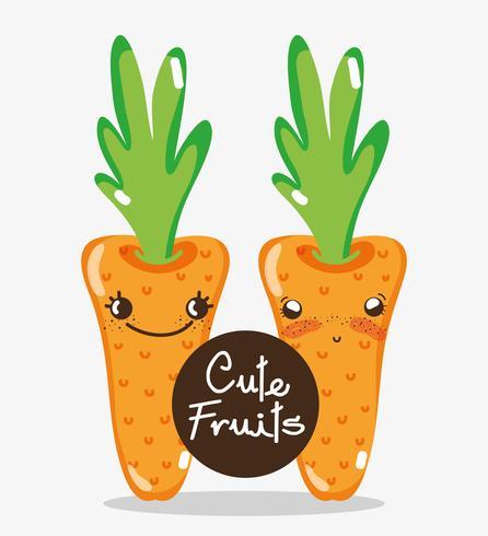Cute carrots cartoons.