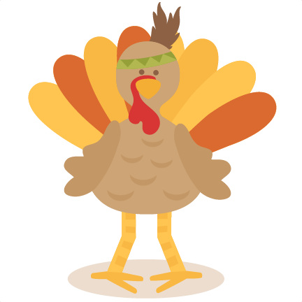 Cute clipart turkey.