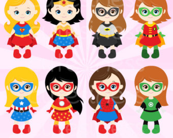 Superhero Digital Clipart Superhero Clipart Super by Cutesiness.