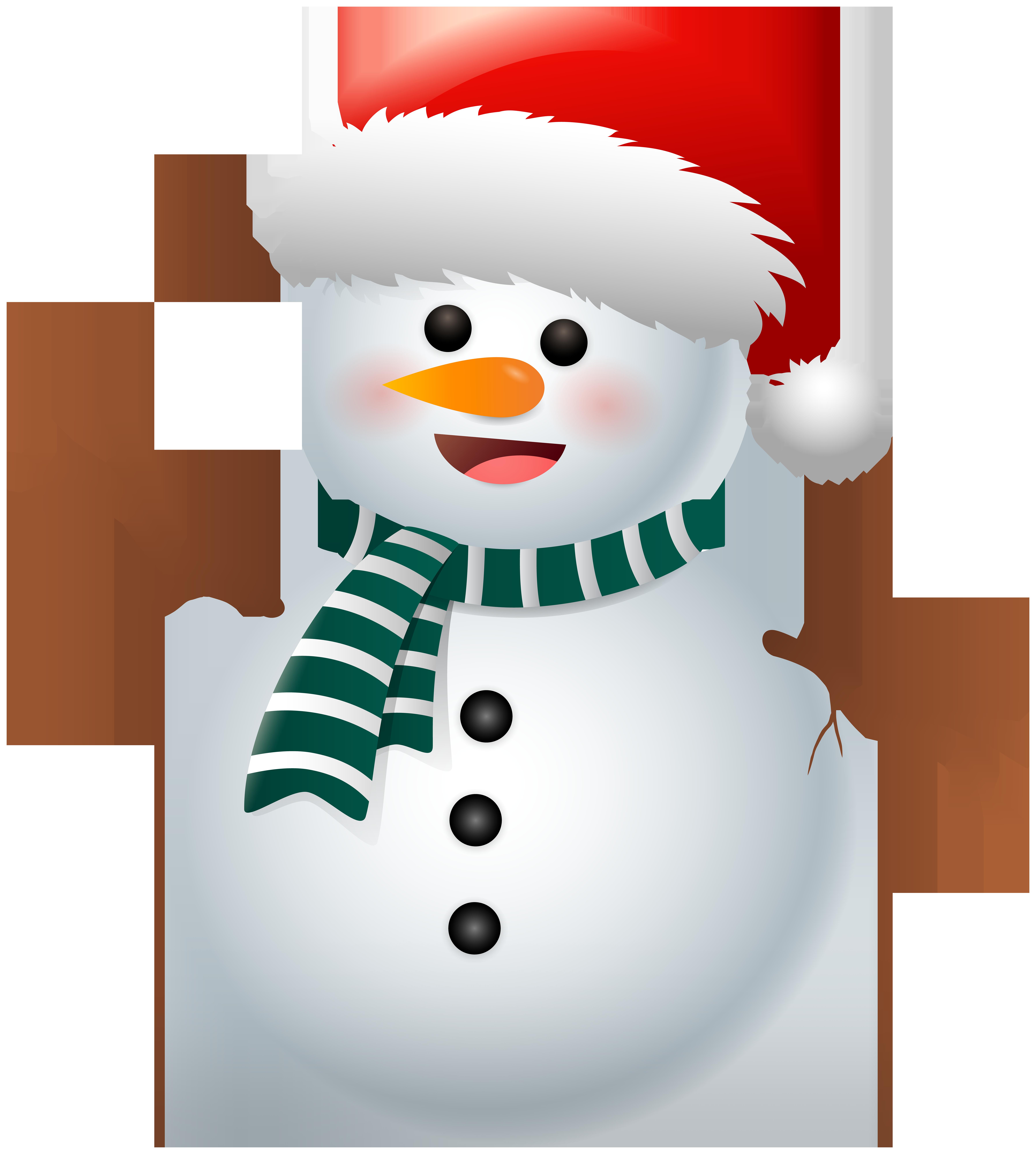 Cute Snowman PNG Clipart.