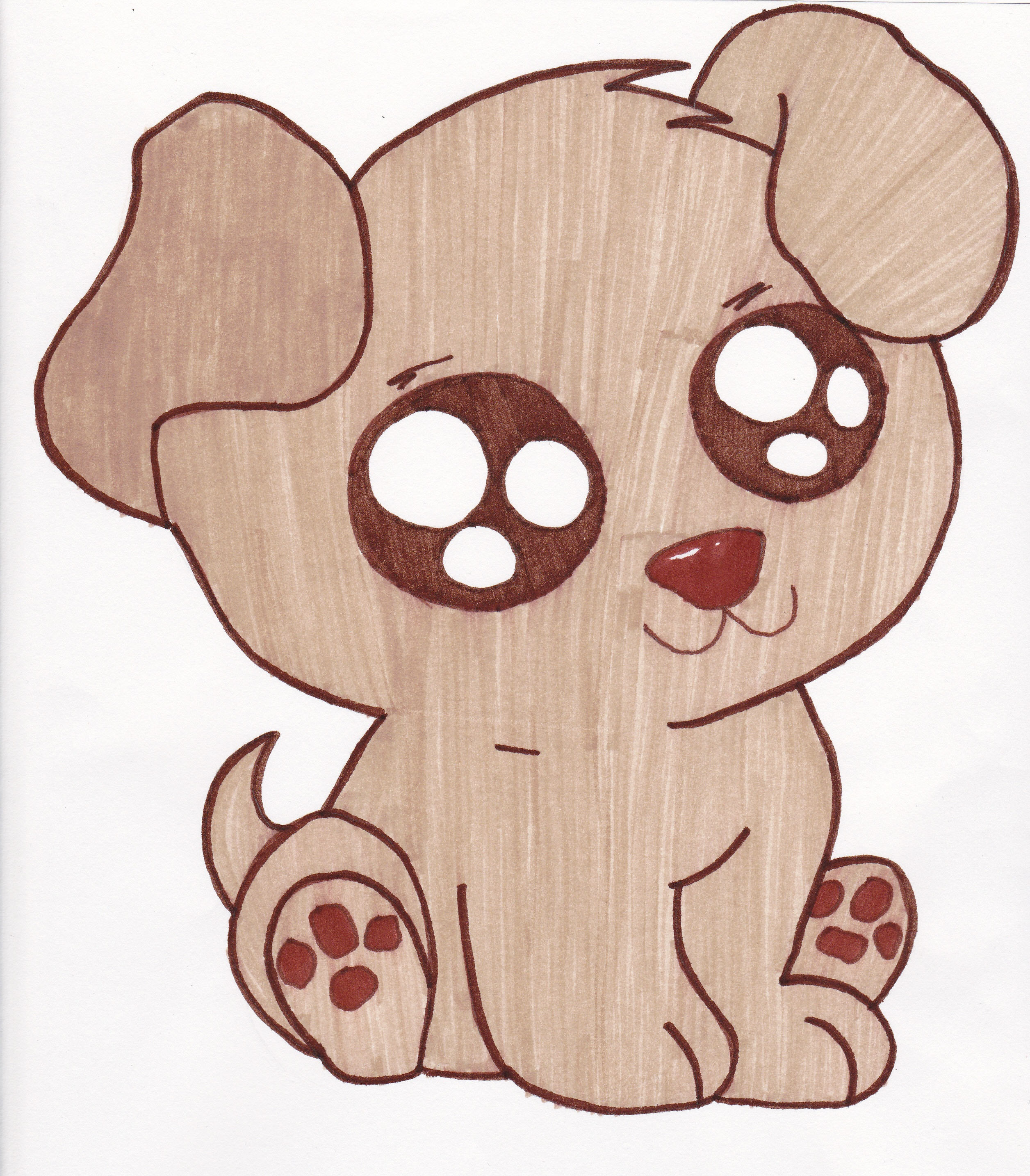 Cute Puppy Easy Clipart.