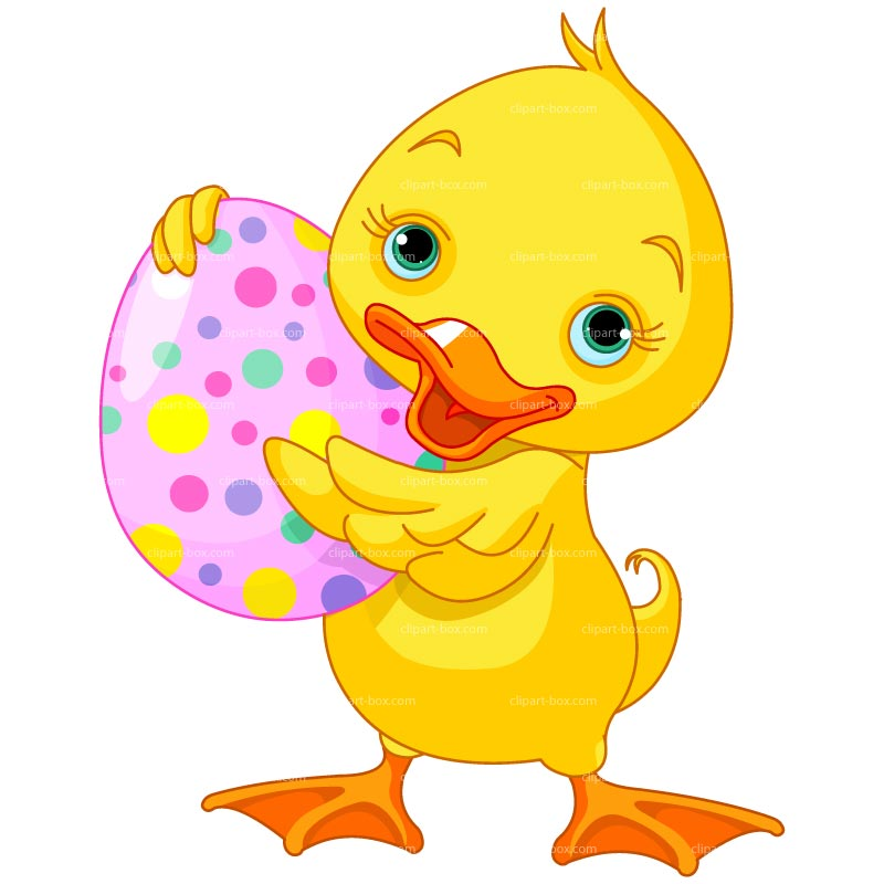 Easter duck clipart.