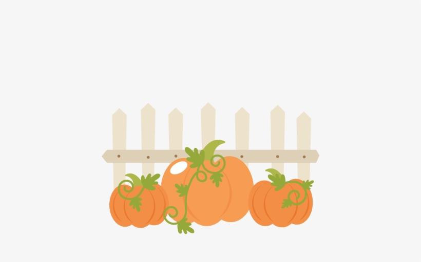 Pumpkins With Fence Svg.