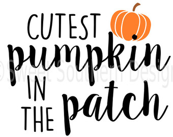 Cutest Pumpkin In The Patch Clipart.