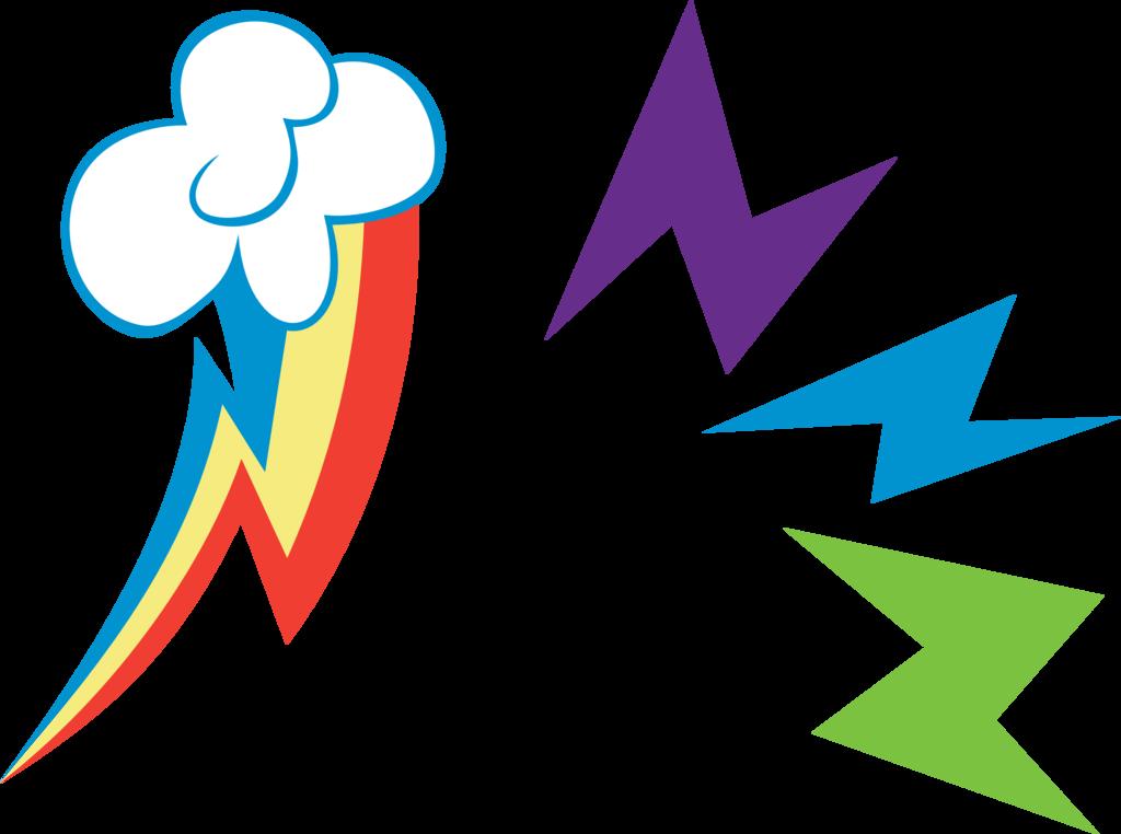 Download Rainbow Dash Cutie Mark PNG Image.