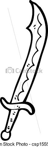 EPS Vector of cartoon cutlass csp15559649.