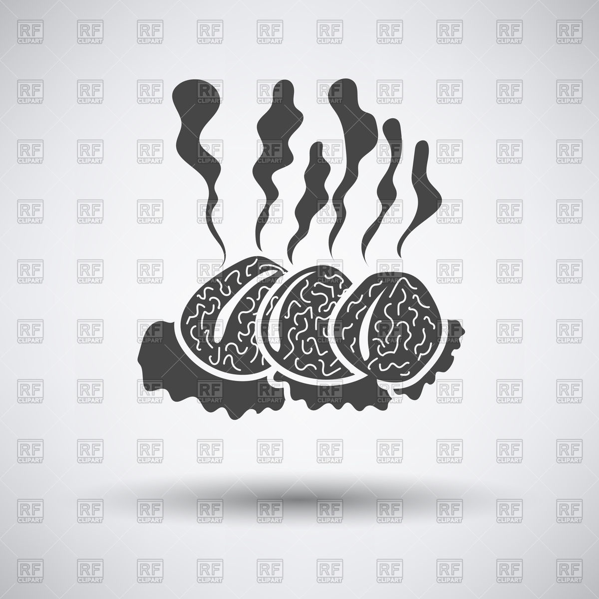 Smoking cutler icon on gray background with round shadow Vector.