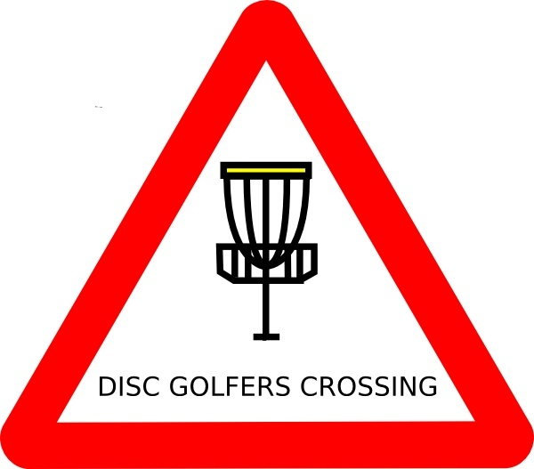 Mat Cutler Disc Golf Roadsign clip art Free vector in Open office.