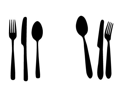 Free Spoon Knife and Fork vectors for your Kitchen Designs.