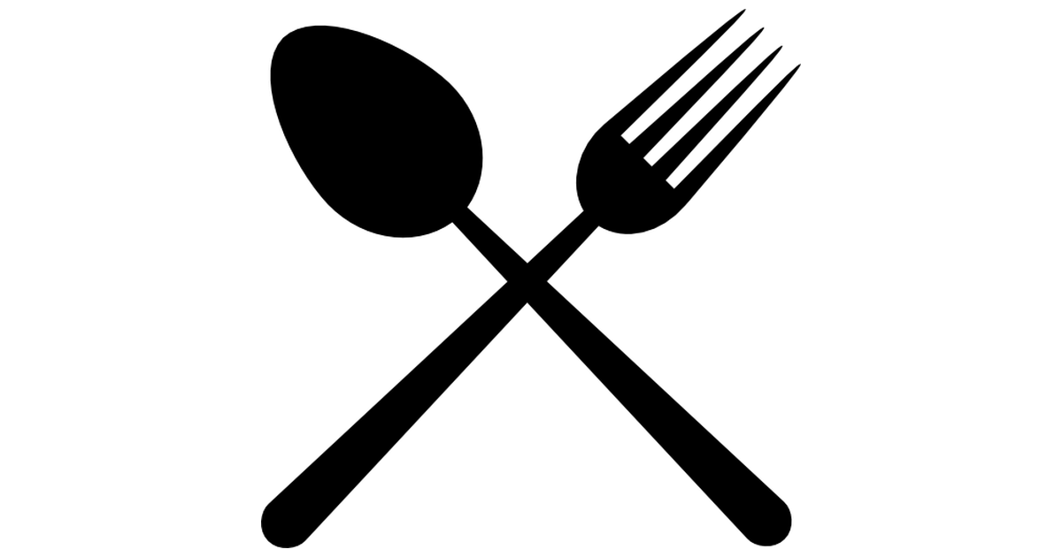 Restaurant cutlery symbol of a cross.