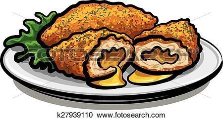 Clipart of chicken kiev cutlet k27939110.