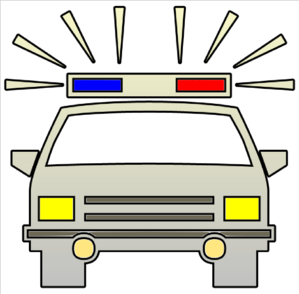 Police car cutout clip art high quality.