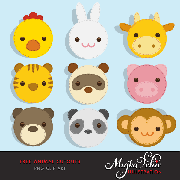 Free Animal Cutout Clipart.