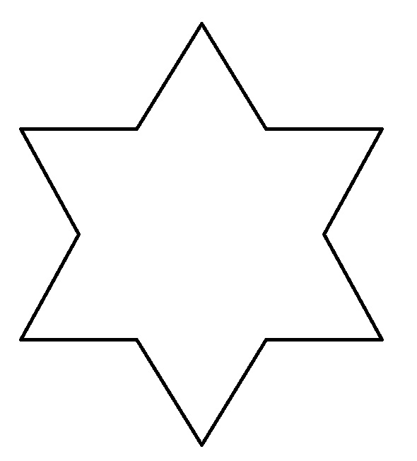 Star cut out clipart.