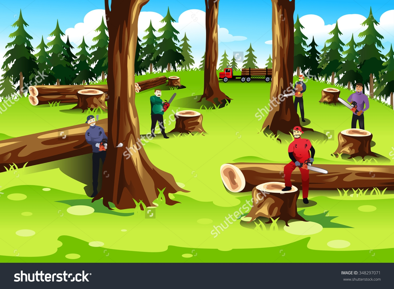 Clipart tree cutting.