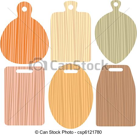 Vector Clipart of cutting board.