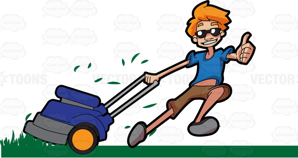 Man mowing grass clipart 2 » Clipart Station.