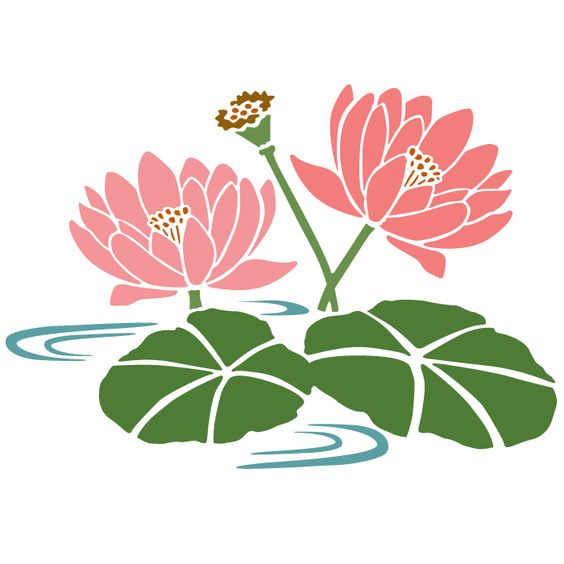 Water lily svg, Botanical svg, rose svg, pansy, herbs, garden.