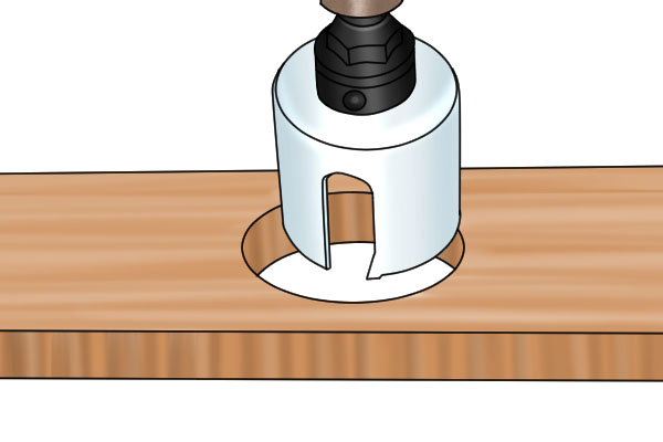 How to cut deep holes or enlarge existing ones with a hole saw.