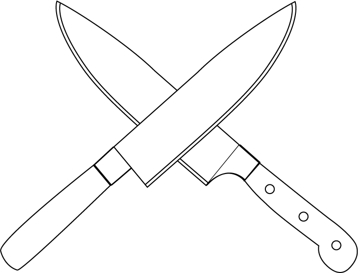 Chef Knife Clipart.