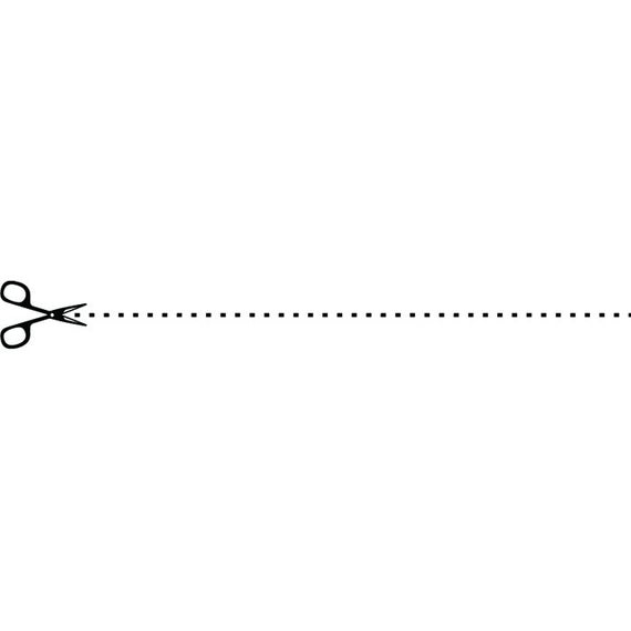Scissors Cut Line #5 Scrapbook Template Design Art Craft DIY Outline Coupon  Print Dotted Element .SVG .EPS Vector Cricut Cut Cutting File.